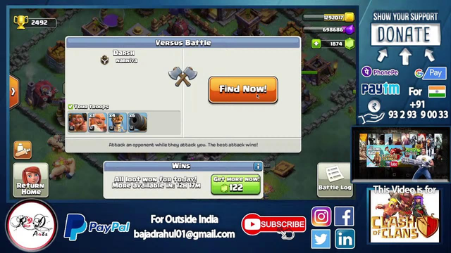 Clash of Clans Gameplay TH14, Farming, Loot, 10,00,000, and Builder Base