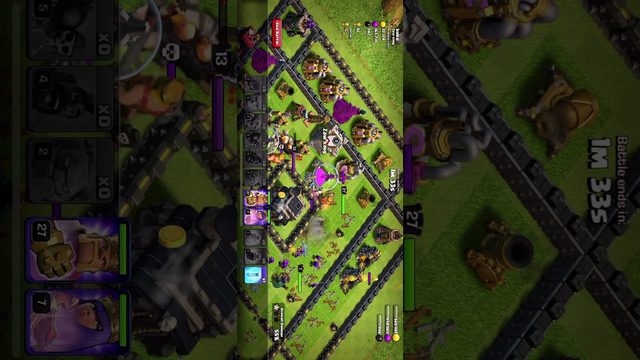 Playing clash of clans  townhall 9 attack
