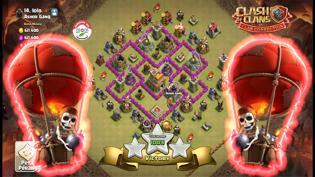 TH8 Attack Strategy VS TH7 Full Balloon Clash Of Clans