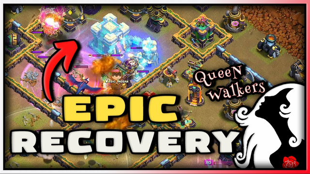 QueeN Walkers with Epic Recovery | Clash of Clans