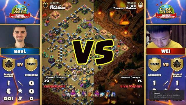 Juan Badnzinger vs WEi DrakestMuzhan Clash of Clans Tournament