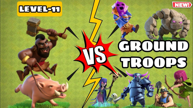New Level Hog Rider Vs Ground Troops   Clash Of Clans   #coc#clashofclans#hogrider