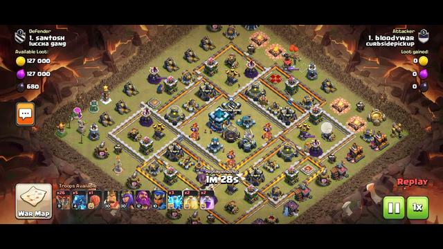 Clan leader defense coc clan war won best defence