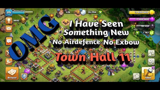 No Airdefence No Eagel Artillery No Inferno Tower COC TH 11