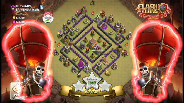 TH8 Attack Strategy Full Balloon Strong Clash Of Clans