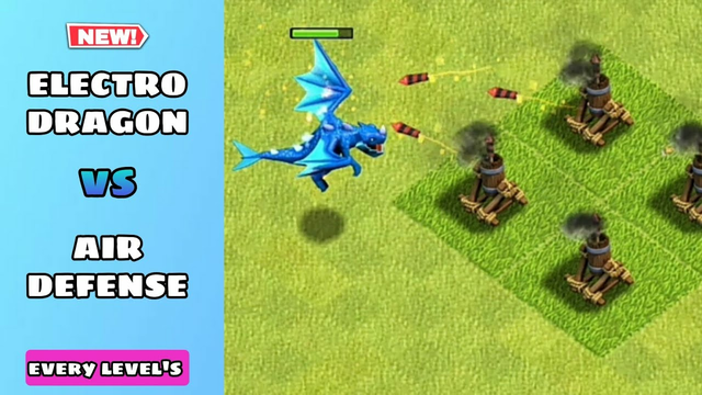 Every Level Electro Dragon Vs Every Level Air Defense   Clash Of Clans #coc#clashofclans