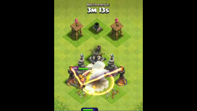 Barbarian king Vs 1st Level Home Village Defence ---- Clash of Clans