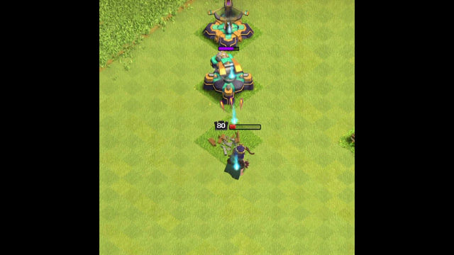 Archer Queen Vs Straight Defense Formation   Clash of clans