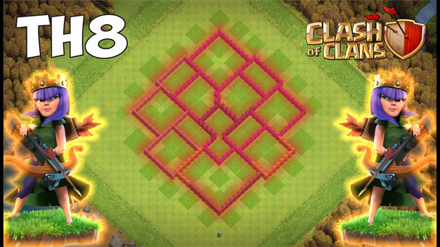 TH8 BASE Hybrid Design Layout Clash Of Clans - Base Layout COC TH8