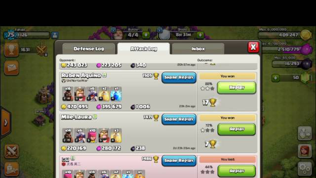 Doing my ballon lvl 5 clash of clans
