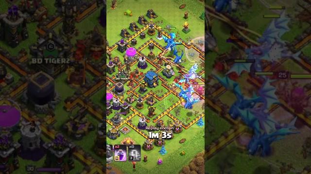 Th12 Defense Vs Th12 Army ! Clash Of Clans 2021 ! #dragon #coc #electro #rage #loot #Fastforward