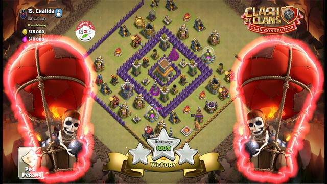 TH8 Attack Strategy Full Looncher Clash Of Clans - Balloon Archer