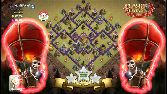 TH8 WAR Attack Strategy Full Looncher Clash Of Clans - COC Best Attack Strategy Balloon Archer
