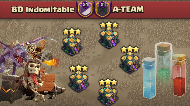 Most Effective War Attack Strategies! TH14 25vs25 Full On War - Clash Of Clans