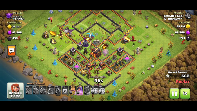 Clash of clans   Easy 3 star on TH10 no wrecker needed just tactics