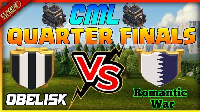 Th9 No Cc Attack Strategy | Romantic War Vs Obelisk | CML Quater Final | Clash Of Clans - Coc