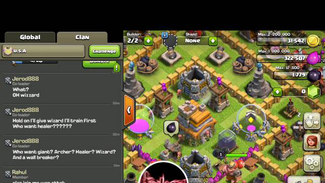 Clash of clans. I'm back
