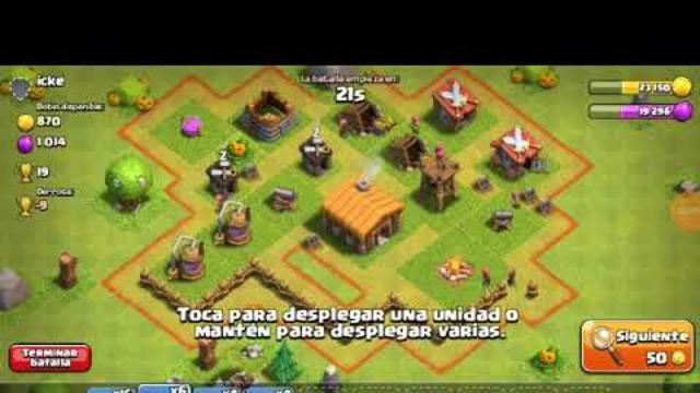 jugando Clash of clans