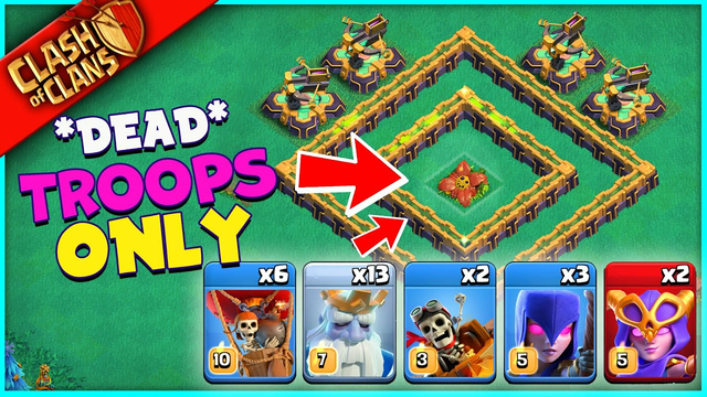 CAN *EVERY DEAD TROOP* IN CLASH OF CLANS SURVIVE THIS?
