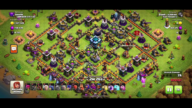 Clash of Clans 2 Million Loot attack