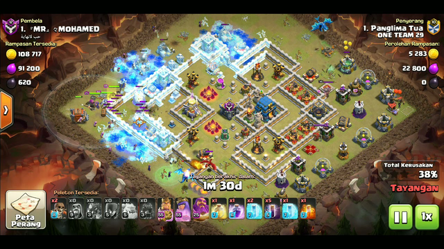 Strategy Attack New Up TH12 || Clash Of Clans (COC)