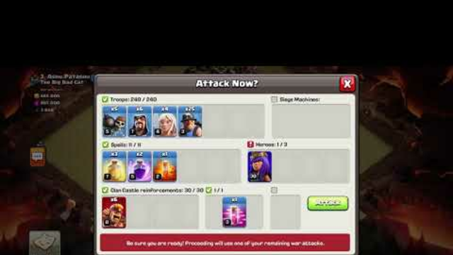 Clash of Clans Doing my attack in war  enjoyyyy
