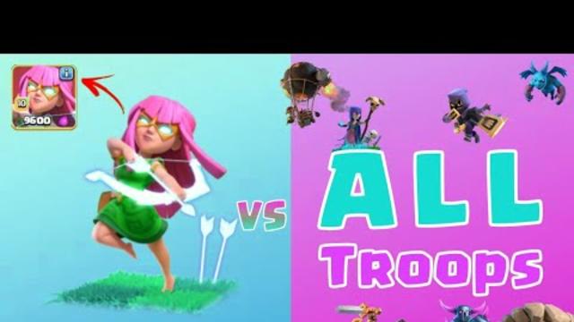 Super Archer Vs All Troops | Clash Of Clans | #coc#clashofclans#archer