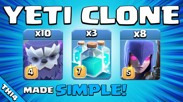 YETI CLONE IS UNSTOPPABLE!!! NEW TH14 Attack Strategy | Clash of Clans