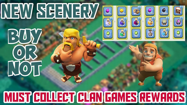 Must Collect Clan games rewards , New scenery Buy or not ? Clash of clans Tamil #Shan