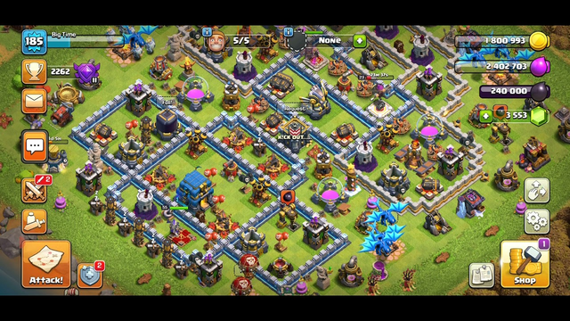 My favorite home base TH 12 ( clash of clans)