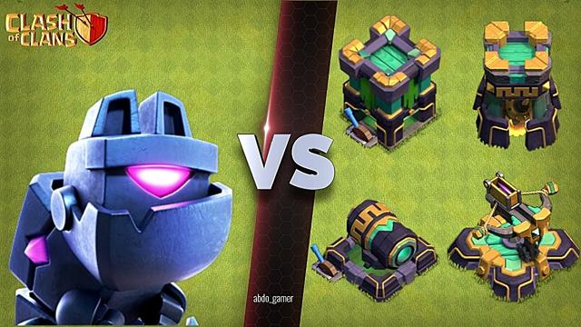 L.A.S.S.I vs Max defenses (Clash of Clans)