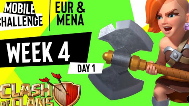 EUR/MENA Clash of Clans | Week 4 Day 1 | ESL Mobile Challenge Fall 2021