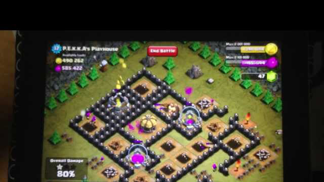 [EXPIRED] Clash of Clans, Level 49 P.E.K.K.A's Playhouse 100% (iPhone recording)