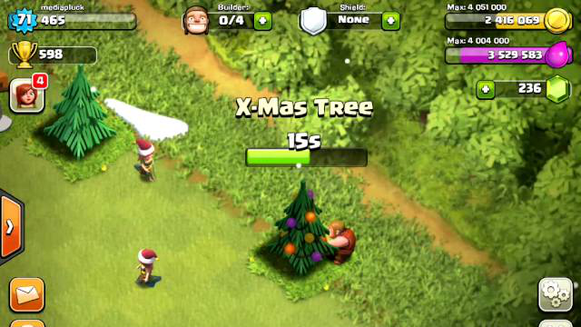 Cutting down the X-mas tree in Clash of Clans