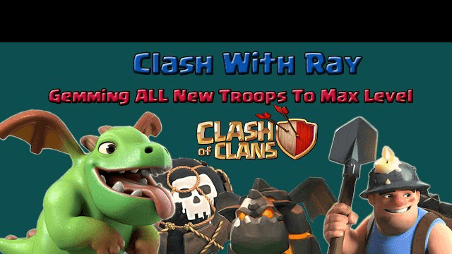 Clash Of Clans - Gemming Baby Dragon, Miner, Lava And Loon To Max Level