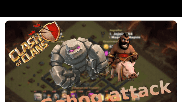 clash of clans attack strategy - gohog vs. th9 #017