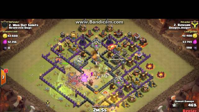Clash of Clans cland DRagon_KNigHt town 11 vs 11