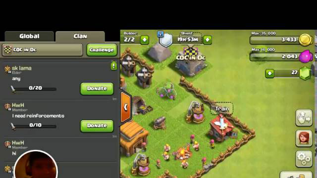 Clash of clans gameplay (first vid )