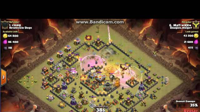 Clash of Clans cland DRagon_KNigHt town 10 vs town11