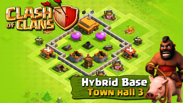 Clash Of Clans Best Town Hall 3 Hybrid Base Th3 Sd Build 2017 Clashofclans