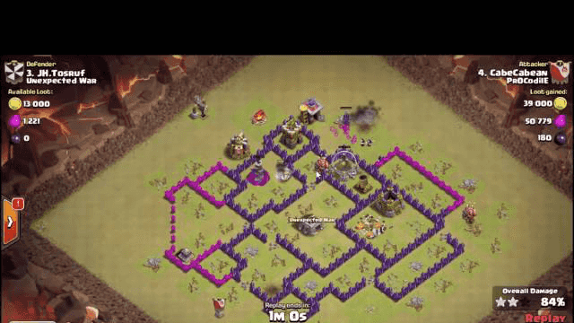 amazing gwipe attack warbase || clash of clans