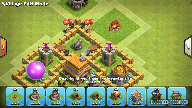 clash of clans best defense town hall 5 hybrid