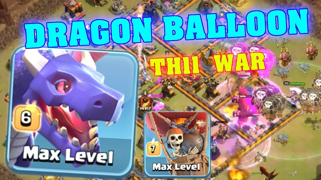 clash of clans balloon attack video