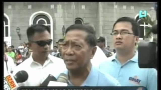 Mga kandidato ng Partidong UNA, sabay sabay naghain ng COC sa COMELEC kahapon
