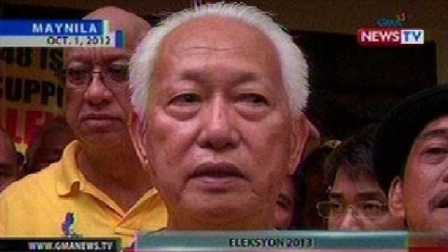 BT: Manila Mayor Lim at Coun. Lou Veloso, naghain na ng COC