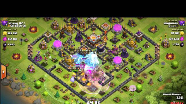 Clash Of Clans - Steal Gold + Elixir + Dark Elixir - Combo Valkyrie #2