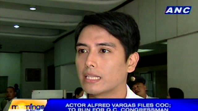 Actor Alfred Vargas files COC; to run for QC Congressman