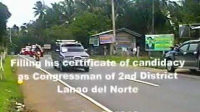 Datu Elias L. Ali filing his COC for Congressman of 1st District Lanao del Norte