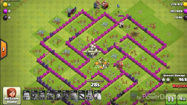 best attack in clash of clans th8