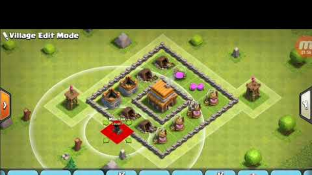 Townhall 4 base - clash of clans